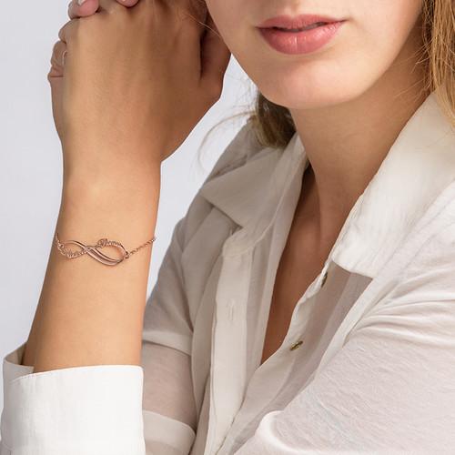 Infinity-Armband mit 2 Namen und Rosé-Vergoldung - 2