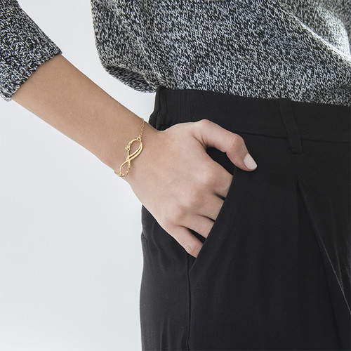 Infinity-Armband mit 2 Namen und Vergoldung - 2