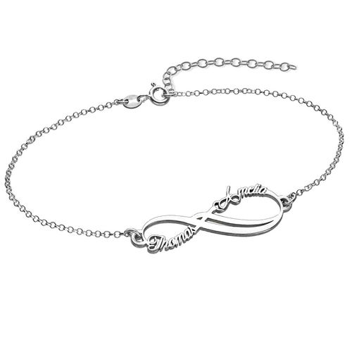 Infinity-Armband mit 2 Namen