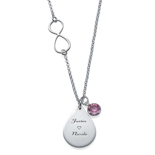 Infinity-Kette mit Charms
