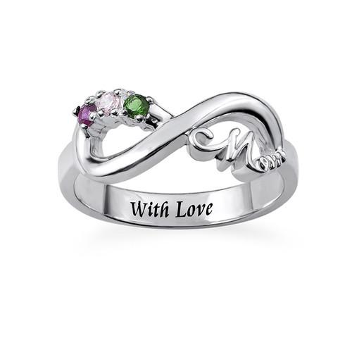 Infinity Mom Ring mit gravierbarer Innenseite - 1