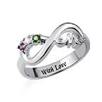 Infinity Mom Ring mit gravierbarer Innenseite