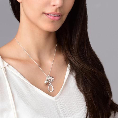 Infinity Namensanhänger - Silber - 2