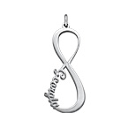 Infinity Namensanhänger - Silber