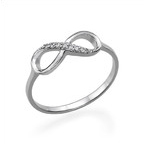 Infinity-Unendlich Ring mit Zirkonia Edelsteinen