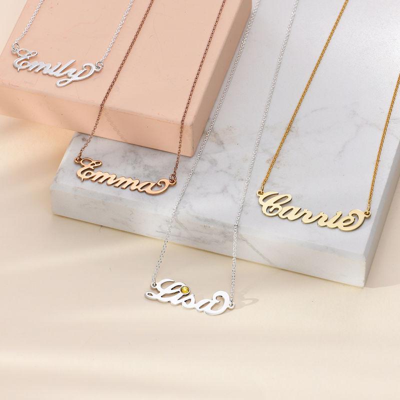 """Kleine """"Carrie"""" Namenskette aus 750er vergoldetem 925er Silber - 2"""