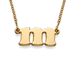 Kleingeschriebene Buchstabenkette aus 750er vergoldetem 925er Silber