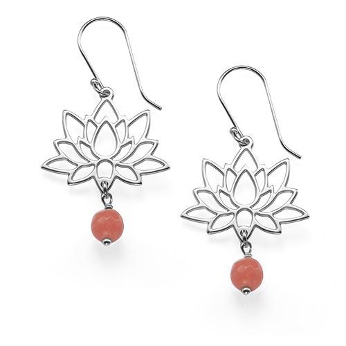 Lotusblüten-Ohrringe aus Sterling Silber