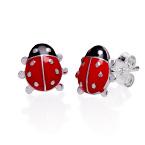 Marienkäfer Ohrringe für Kinder