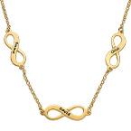 Mehrfach-Infinity-Halskette in Silber