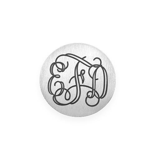Monogramm Plättchen in Silberoptik für Charm Medaillon