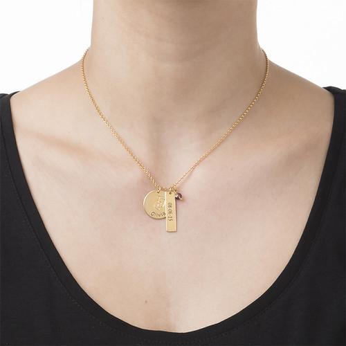 Mutterschmuck - Vergoldete Babyfüsse Charm Halskette - 1