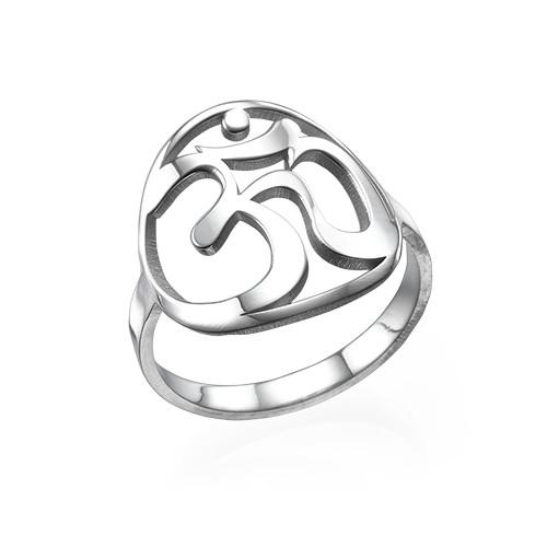Om Ring aus Sterling Silber