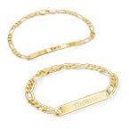 Partnerarmbänder für Männer und Frauen mit Vergoldung