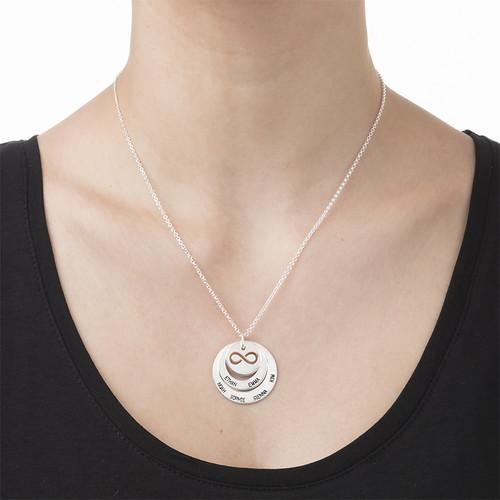 Personalisierbare Familien Halskette mit Infinty Symbol - 2