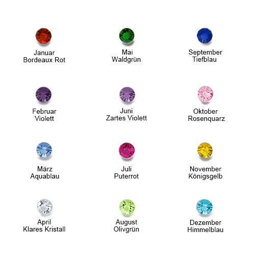 Personalisierbarer Geburtsstein-Ring aus vergoldetem Silber - 3