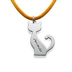 Personalisierte Katzenkette aus Silber