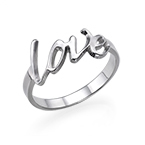 Personalisierter Love Ring in Silber