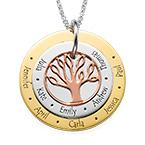 Mehrfarbige Familienstammbaumkette für Mütter