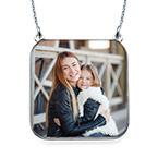 Personlisierbare Foto-Halskette - quadratisch