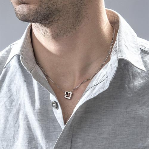 Quadratische Sie und Er Halskette - 2