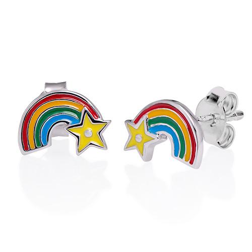Regenbogen Ohrringe für Kinder