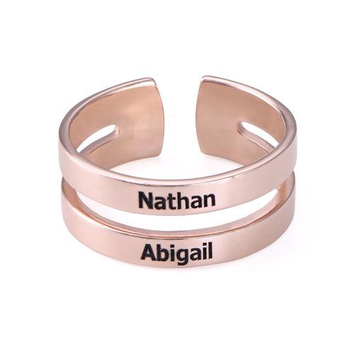 Ring mit Namen - mit 750er Rosévergoldung - 1