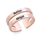 Ring mit Namen - mit 750er Rosévergoldung