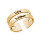 Ring mit Namen - mit 750er Vergoldung