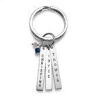 Schlüsselanhänger mit personalisierten Geburtsstein-Barren