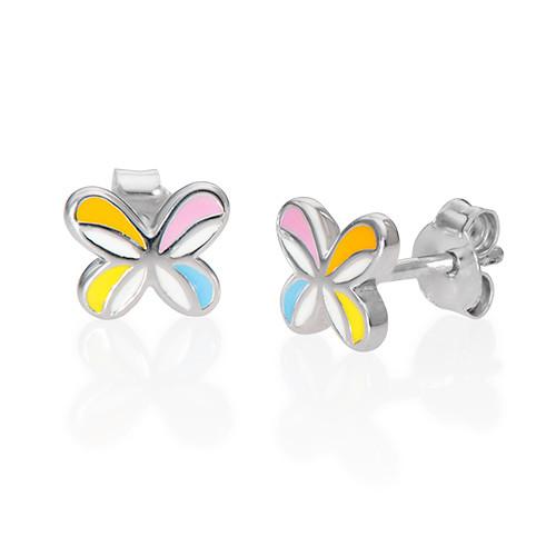 Schmetterlingsohrringe für Kinder