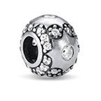 Sternchen Charm-Perle mit Zirkonia Kristallen