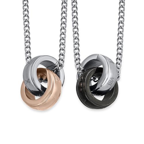 Verbundenes Ring-Ketten-Set für Pärchen