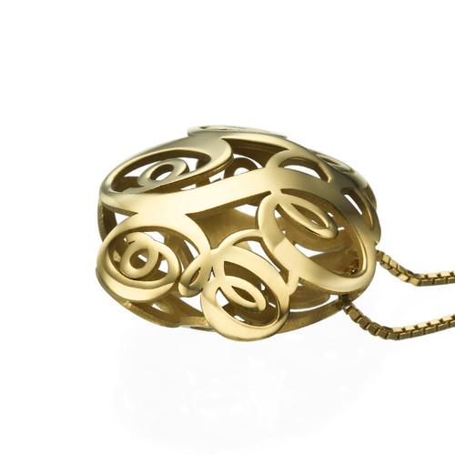 Vergoldete 3D Monogramm Halskette - 1