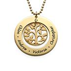 Vergoldete Familien Stammbaum Halskette