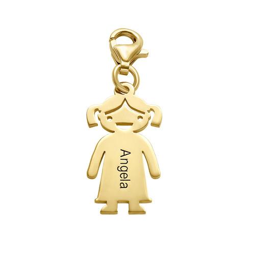 Vergoldeter Mädchenanhänger mit Karabinerverschluss