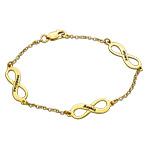 Vergoldetes Mehrere Infinity-Armband