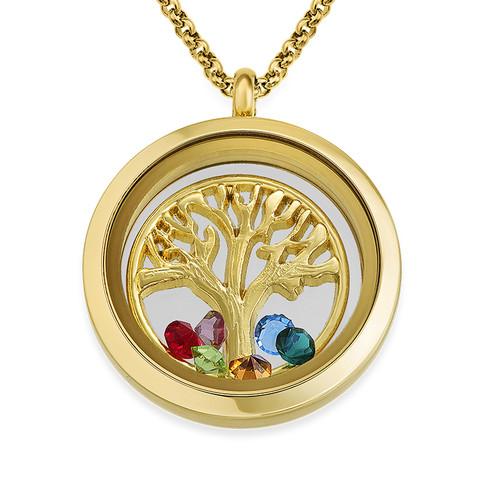 Vergoldetes Familienstammbaum-Charm Medaillon