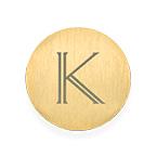Vergoldetes Plättchen mit Initiale für Charm Medaillon