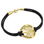Vergoldetes Stammbaum Armband in Herzform
