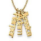 Vertikale Namenskette aus 18K vergoldeten Silber