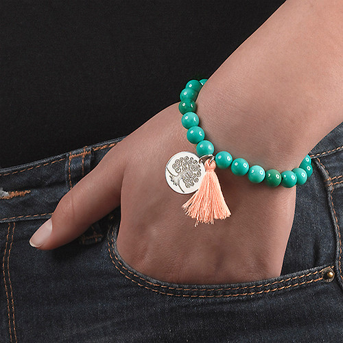 Yogakugelarmband mit Stammbaumanhänger - 5