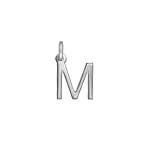 Zarter Initial Charm Anhänger - Silber