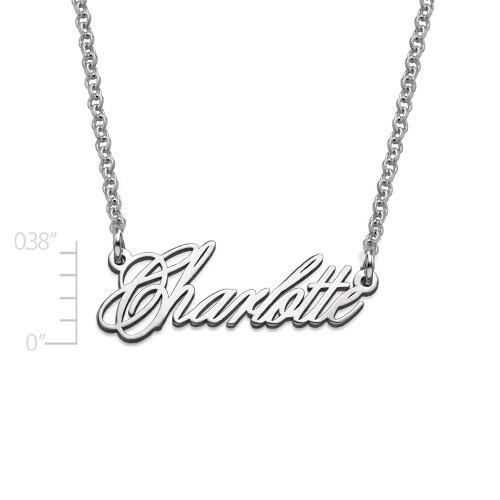 Zierliche extra starke Namenskette aus Silber