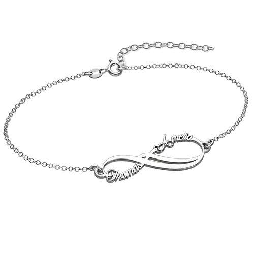 866b5c93870f Mehrfach Infinity-Armband aus Silber   MeineNamenskette