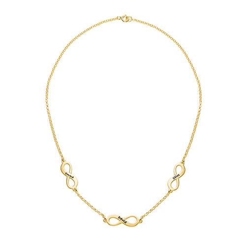 Mehrfach-Infinity-Halskette - 18k vergoldet - 1