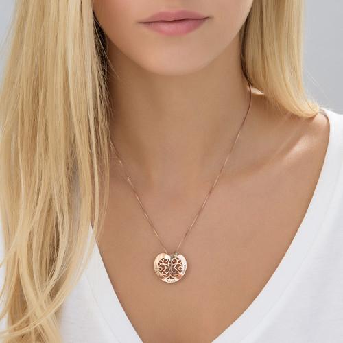 Herzkette mit Gravur und Rosévergoldung - 2