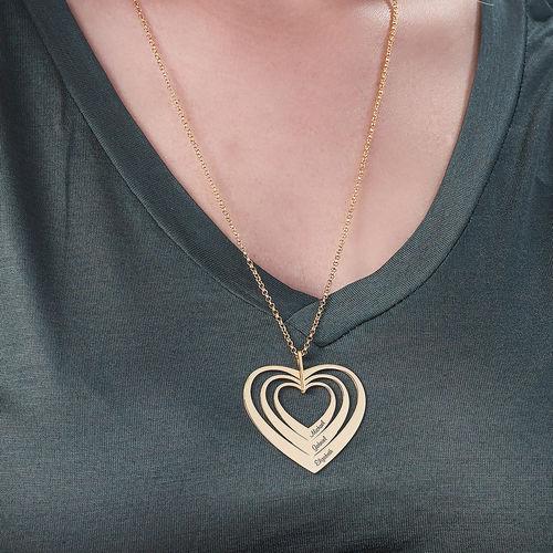 Familienkette mit Herz mit Vergoldung - 3