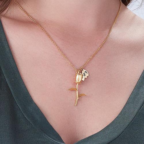 Rosenkette mit Buchstaben-Charms mit Vergoldung - 2