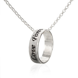 Sterling Silver Personalized Ring Necklace product photo